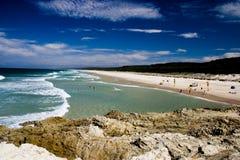 Praia principal fotografia de stock