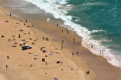 Praia principal do paraíso dos surfistas - Queensland Austrália Fotografia de Stock Royalty Free