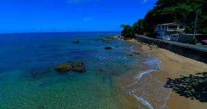 Praia Punta Cadena de Rincon, Porto Rico, video estoque