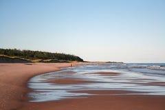 Praia quieta Fotografia de Stock Royalty Free