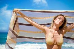 A praia relaxa Imagem de Stock