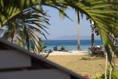 A praia relaxa Foto de Stock