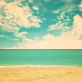 Praia retro Fotografia de Stock