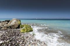 Praia Rhodes Greece de Kremasti foto de stock