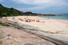 Praia Rio de Janeiro Brasil de Cepilho Imagem de Stock Royalty Free