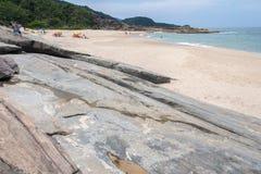 Praia Rio de Janeiro Brasil de Cepilho Imagem de Stock