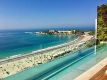 Praia Rio de janeiro de Copacabana da vista bonita Fotografia de Stock Royalty Free