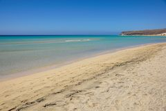 Praia Risco El Paso Fuerteventura de Jandia em Ilhas Canárias da Espanha Foto de Stock