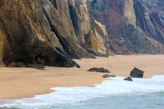 Praia robi Guincho Santa Cruz, Portugalia zdjęcia stock