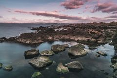 Praia rochosa de Arild Foto de Stock Royalty Free