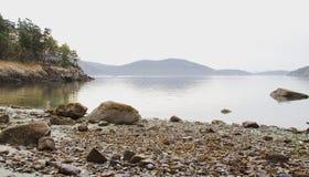Praia rochosa de López Fotografia de Stock Royalty Free