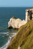 Praia rochosa em Normandy, France Foto de Stock Royalty Free