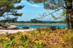 Praia só no Rias Baixas, Galiza Fotos de Stock
