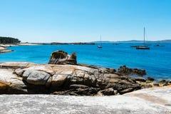 Praia só no Rias Baixas, Galiza Fotos de Stock Royalty Free