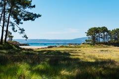 Praia só no Rias Baixas, Galiza Imagem de Stock Royalty Free