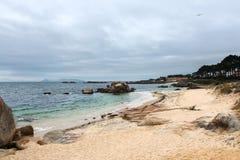 Praia só no Rias Baixas, Galiza Foto de Stock