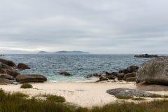 Praia só no Rias Baixas, Galiza Fotografia de Stock