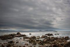 Praia só no Rias Baixas, Galiza Fotografia de Stock Royalty Free