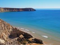 Praia, Sagres, Portugal fotografia de stock