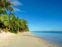 Praia samoana imagem de stock