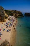 Praia Santa Ana, dichtbij Lagos, Portugal Stock Foto