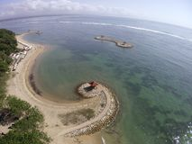Praia Sanur Bali de Karang Foto de Stock