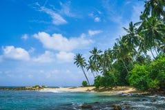 Praia secreta em Mirissa, Sri Lanka imagem de stock royalty free