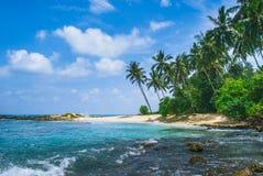 Praia secreta em Mirissa, Sri Lanka Imagens de Stock