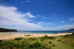Praia seixoso, NSW Fotos de Stock Royalty Free
