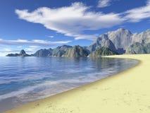 Praia selvagem Imagem de Stock Royalty Free