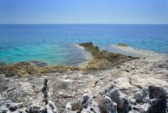 Praia selvagem Fotografia de Stock