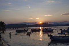 Praia selvagem bonita em Grécia Imagens de Stock