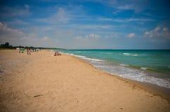 Praia selvagem Bulgária de Krapetz Foto de Stock