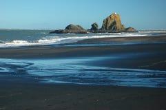Praia selvagem do oceano Fotos de Stock Royalty Free