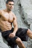 Praia 'sexy' do homem Imagens de Stock Royalty Free