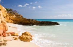 Praia Sint Maarten de Cupecoy Foto de Stock Royalty Free
