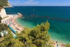 Praia Sirolo Fotos de Stock