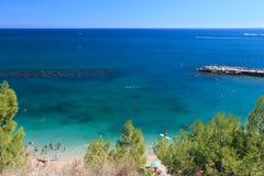Praia Sirolo Foto de Stock Royalty Free