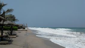 Praia sob o forte vento Foto de Stock