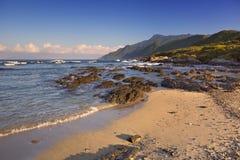 Praia subtropical na ilha de Yakushima, Japão fotos de stock