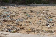 Praia suja na ilha de pouco Andaman no Imagem de Stock Royalty Free
