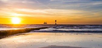 Praia sul de Bridlington Imagem de Stock