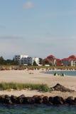 Praia sul de Fehmarn Imagem de Stock