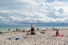 Praia sul de Miami, Florida Imagens de Stock Royalty Free