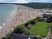 Praia sul de Tenby Fotografia de Stock