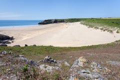 Praia sul do abrigo largo Imagem de Stock