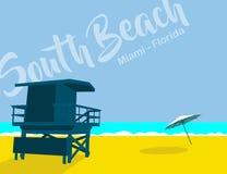 Praia sul Florida imagem de stock