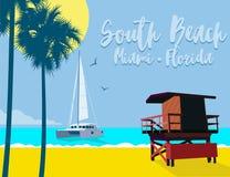 Praia sul Florida foto de stock royalty free
