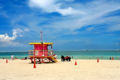 Praia sul Miami Fotografia de Stock Royalty Free