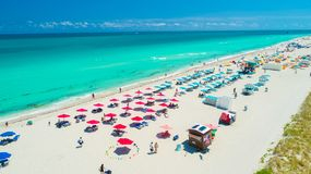 Praia sul, Miami Beach, Florida, EUA imagens de stock royalty free
